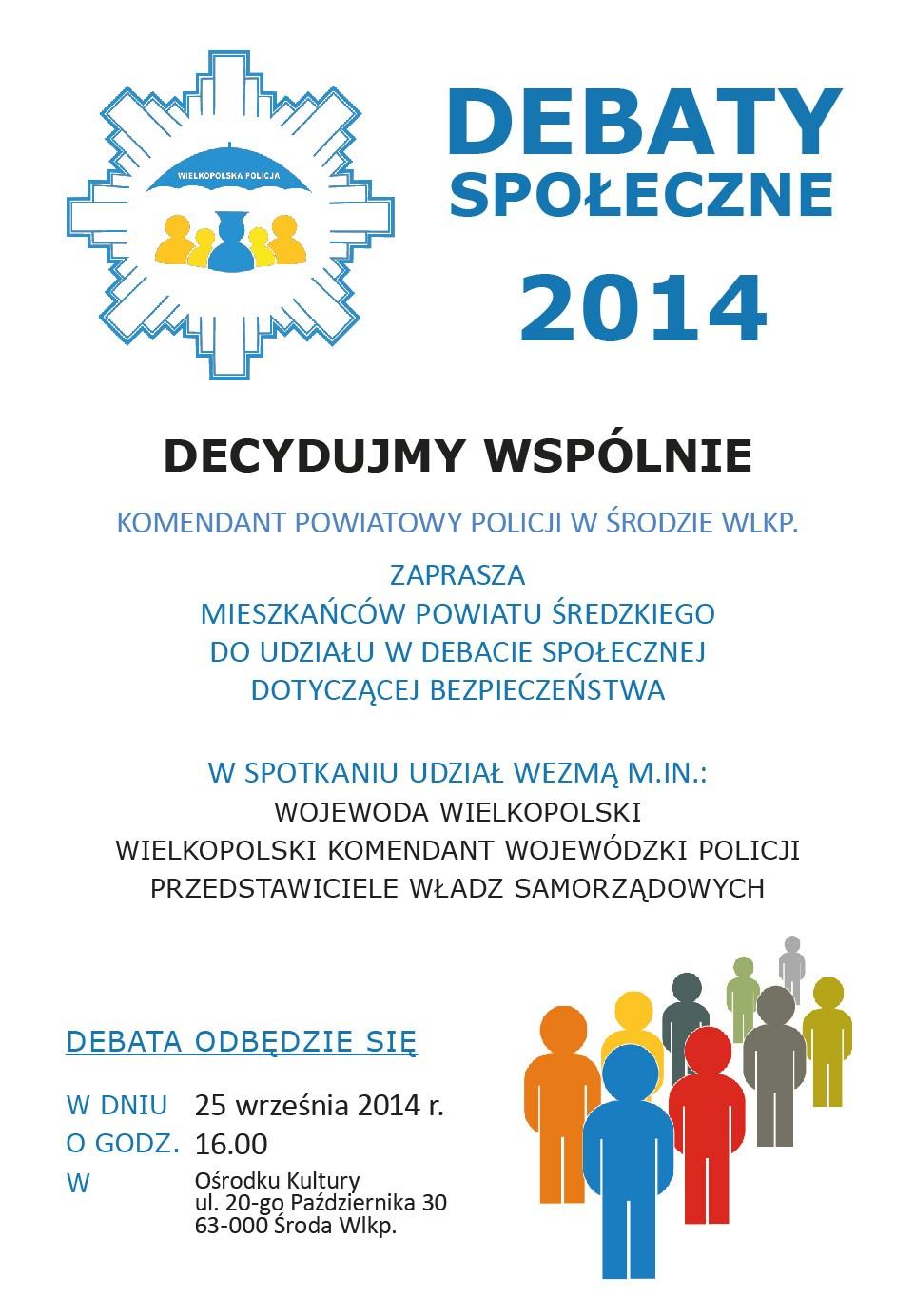 Zaproszenie na debaty społeczne